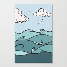 Clouds and Waves Canvas Print