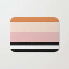 Aspen Cream Stripe Bath Mat