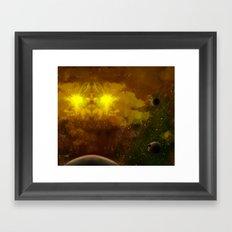 Beyond Infinity   Twilight system  Framed Art Print