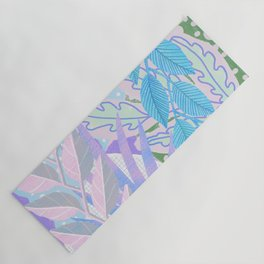 Modern Jungle Plants - Blue, Purple Yoga Mat