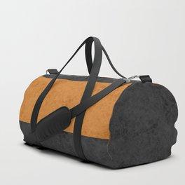 Yellow suede Duffle Bag