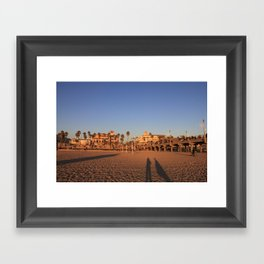 Shadows on the Beach Framed Art Print