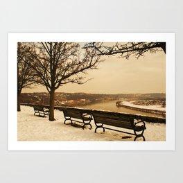 on the Cincinnati River Art Print