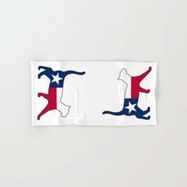 State of Texas Flag for Cat Lovers Hand & Bath Towel