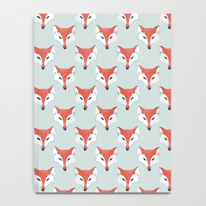 Fox Pattern on Sage Notebook