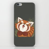 red panda iPhone & iPod Skins featuring Panda by Toru Sanogawa