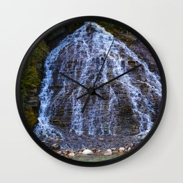 Cascading Waterfall in Maligne Canyon in Jasper National Park, Canada Wall Clock