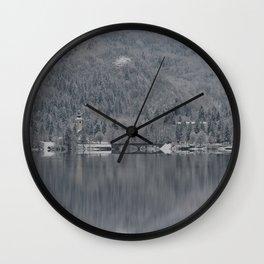 Church At Lake Bohinj Wall Clock
