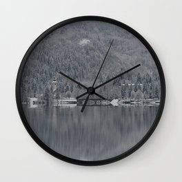 Church At Lake Bohinj Wall Clock