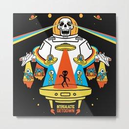 Intergalactic Get Down Metal Print