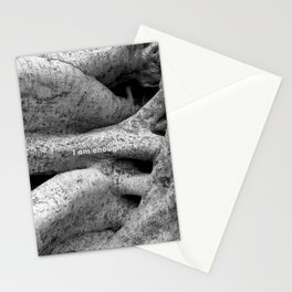 Ficus tree roots with I Am Enough quote Stationery Cards
