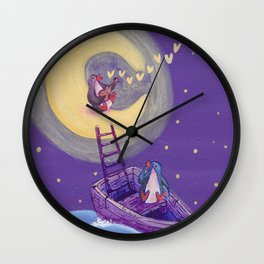 Penguin's Ladder Connects Boat to the Moon and the Singing Penguin Wall Clock