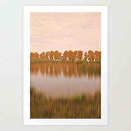The other side in autumn light Art Print