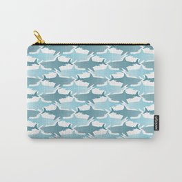 Shark Tooth Check Carry-All Pouch