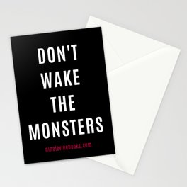 Don't Wake The Monsters Stationery Cards