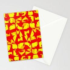 red shapes Stationery Cards