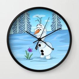 Olaf In Summer Wall Clock