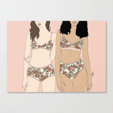 Girls in Florals Canvas Print