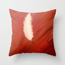 Blood, Feather & Fate Throw Pillow