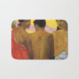 Three Tahitians by Paul Gauguin Bath Mat