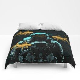 astronauts and goldfish Comforters