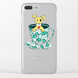 Dinnerware Sets - puppy in a teacup Clear iPhone Case