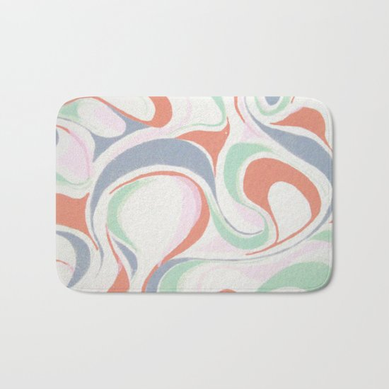 Abstract print design Bath Mat
