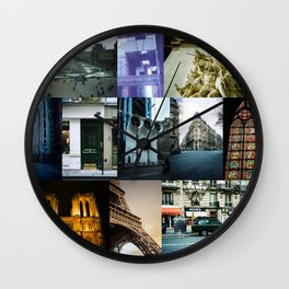 Collage of Paris Street View Wall Clock