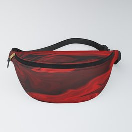 Blood Red Marble Fanny Pack