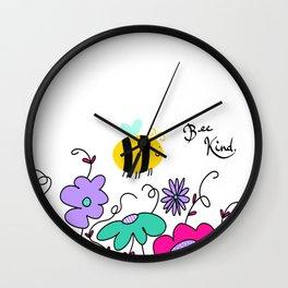 Bee Kind Wall Clock