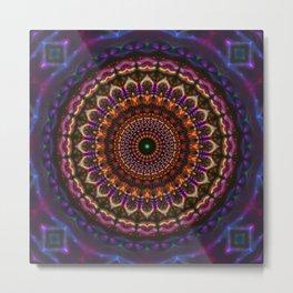 Union Crown Mandala Metal Print
