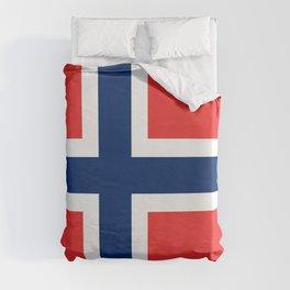Norway Flag Norwegian Patriotic Duvet Cover