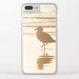 Meet Me at the Beach Clear iPhone Case