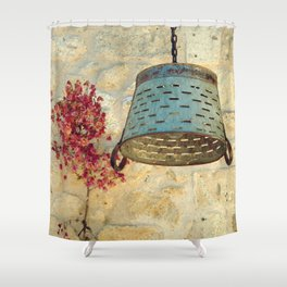 wall art in alacati Shower Curtain