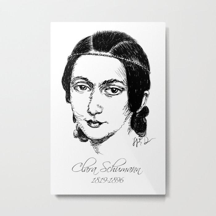 Clara Schumann Metal Print
