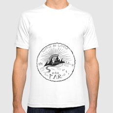 Little by Little White MEDIUM Mens Fitted Tee