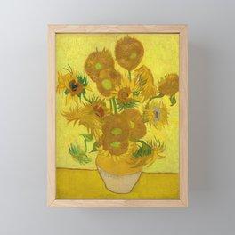 Van Gogh Sunflowers Framed Mini Art Print