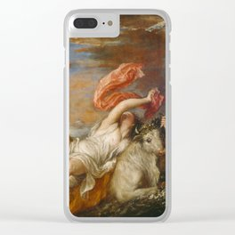 """Titian (Tiziano Vecelli) """"The abduction of Europa"""", 1562 Clear iPhone Case"""