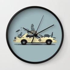 1-800-TAXI-DERMY Wall Clock