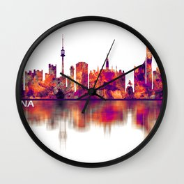 Vienna Austria Skyline Wall Clock
