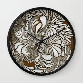 White Pattern Wall Clock
