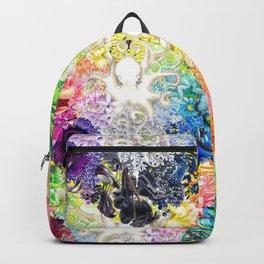 Rainbow Spectrum heart extra dense pattern Backpack