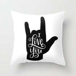 I Love You, Sign Language Throw Pillow