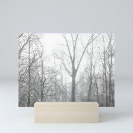 Black and White Forest Illustration Mini Art Print