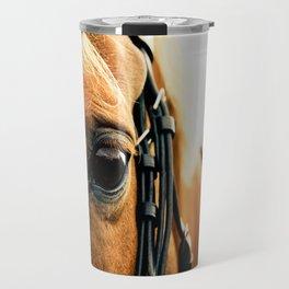 a horse's kind eyes. Travel Mug