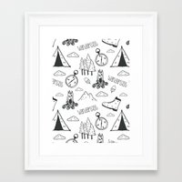 wanderlust Framed Art Prints featuring Wanderlust by Tracie Andrews