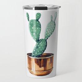 Potted Cactus Bronze Copper Travel Mug