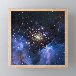 Star Cluster Framed Mini Art Print