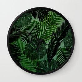Green Foliage Wall Clock