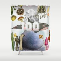 the 100 Shower Curtains featuring 100 by amit sakal